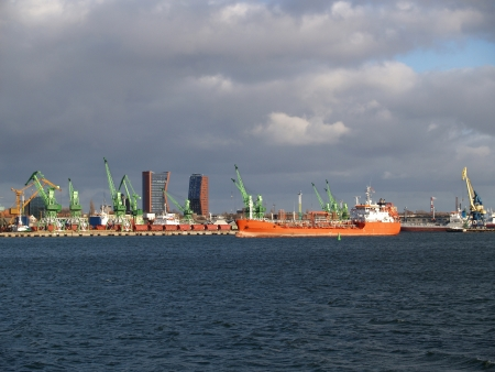 Lithuania  View of the Klaipeda seaport