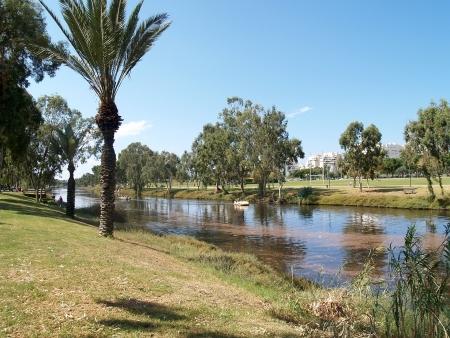 Israel  Yarkon s river in Tel Aviv