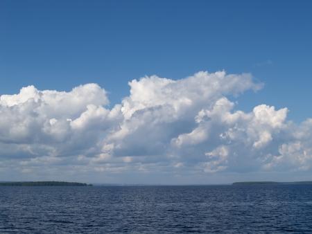 onega: Clouds over Lake Onega