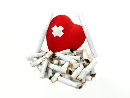 harm: Sore heart and stubs. Harm of smoking