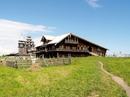 Karelia, Kizhi  Wooden house of the peasant Stock fotó - 18329475