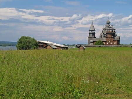 Karelia, Kizhsky country churchyard photo