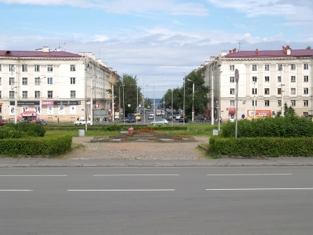 Petrozavodsk  View of Lenin Avenue from Gagarin Square Editorial