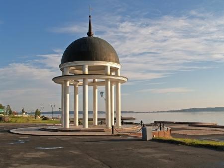 Petrozavodsk  Petrovsky rotunda on Lake Onega Embankment Stock fotó - 19320071