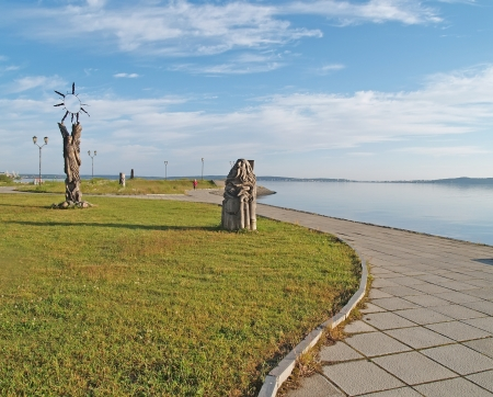 onega: Petrozavodsk. Lake Onega Embankment Editorial