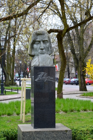 chopin: Monument to Friederich Chopin in Sopot, Poland Editorial
