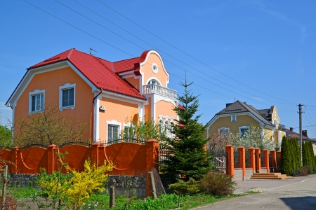 The area of private building in Kaliningrad, Russia