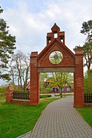 Gothic gate in Nida, Lithuania