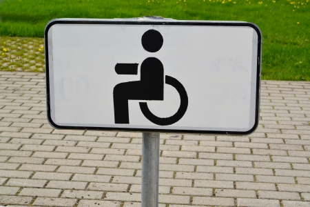 Parking sign for disabled people photo
