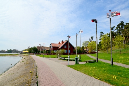Curonian Bay Embankment in Nida, Lithuania