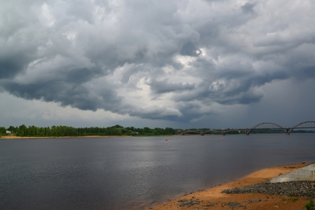 Rybinsk, Russia  The storm sky over Volga photo