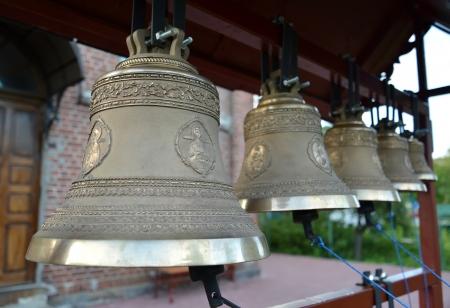 figurative: Church bells on a figurative folding belfry