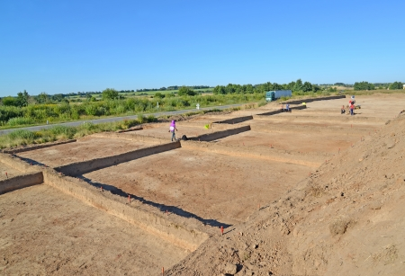 Archeological excavations in the Kaliningrad region, Russia