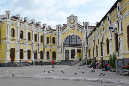 nodal: Passengers at the railway station  Kazatin, Ukraine