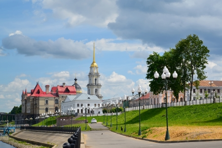 Rybinsk  View of Volzhskaya Embankment Stock Photo
