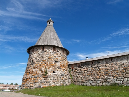 siervo: Spinning torre de Spaso-Preobrazhenskoye del monasterio Solovki