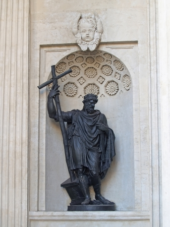St  Petersburg  Statue of prince Vladimir in a niche of the Kazan cathedral Stock Photo - 23835809