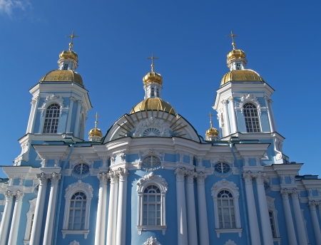 St  Petersburg  Nikolsky a sea cathedral against the sky photo