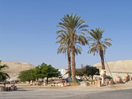 judaic: Israel. Sale of pottery in the Judaic desert