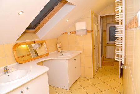 Bathroom in cheap hotel Editorial