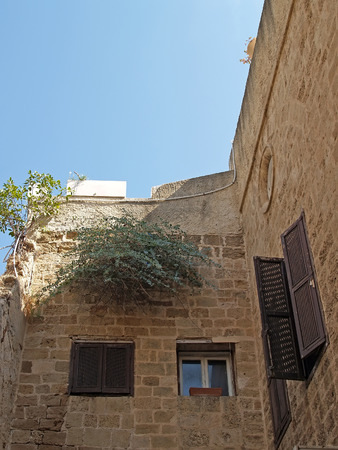 House in ancient Yaffo, Israel photo