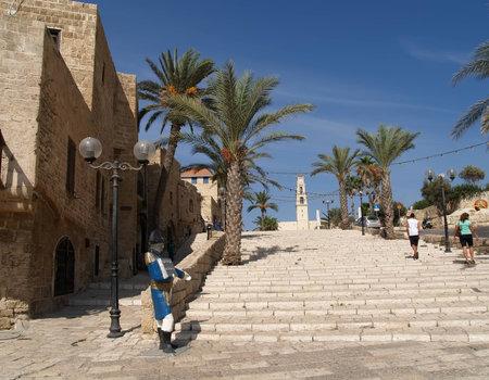 yaffo: Escalera en antigua Yaffo, Israel