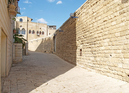 yaffo: Israel  Narrow small street in ancient Yaffo