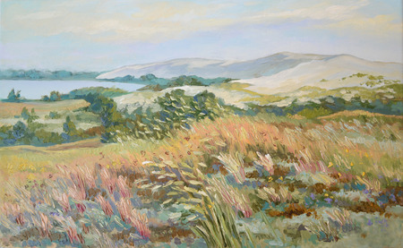 Picture Baltic Herbs. Canvas, oil