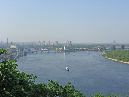 dnepr: Kiev.  Panorama of Dnepr  Stock Photo