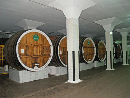 Workshop of endurance and processing of wine materials