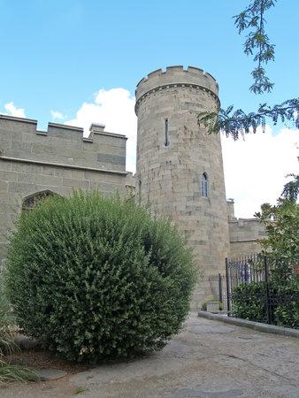 alupka: Crimea. Vorontsov Palace tower in Alupka