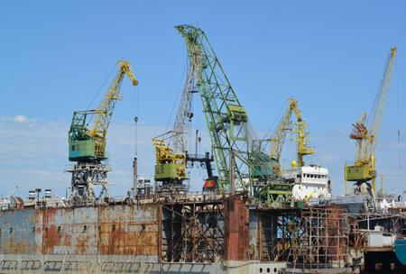 shiprepair: Dock of ship-repair plant