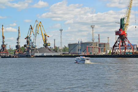 View of the Kaliningrad trade seaport