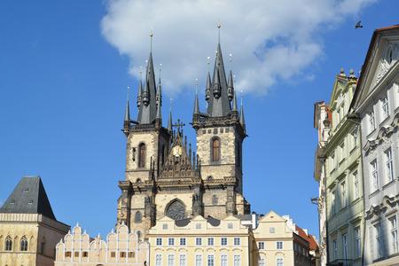 tynsky church: Prague. Church of the maiden Maria before Tyn