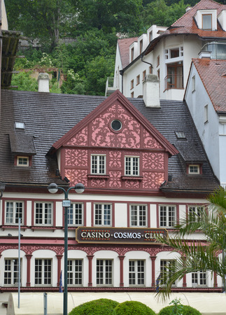 vary: The building in Karlovy Vary, the Czech Republic Editorial
