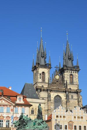 tynsky church: Prague  Church of the maiden Maria before Tyn