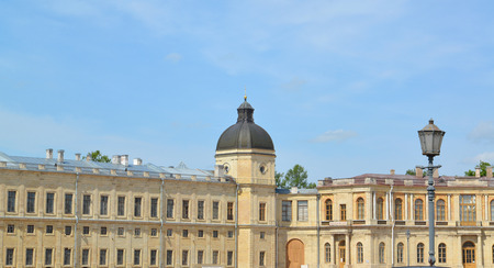the eighteenth: Fragment of the southern facade of the Big Gatchina palace