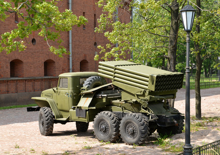 fv: Fighting vehicle of BM-21 (RSZO Hail) on the basis of the Urals-375Д car Editorial