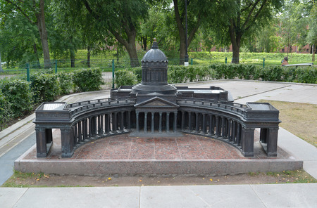 The model of Kazan Cathedral in St. Petersburg photo