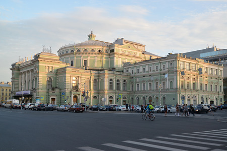 modelled: St. Petersburg. The State Academic Mariinsky Theatre shined with beams of the coming sun