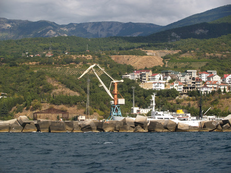 Yalta cargo trade seaport, Crimea photo