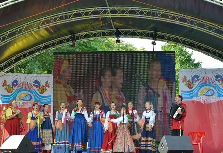 Performance of the Russian national folklore ensemble at fair of national creativity, Kaliningrad
