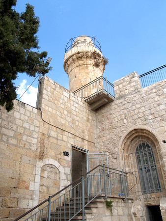 serf: Fortification and tower in the old city on the Mount Zion. Israel, Jerusalem