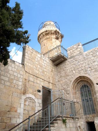 siervo: La fortificaci�n y la torre en la ciudad vieja en el Monte Si�n. Israel, Jerusal�n Editorial