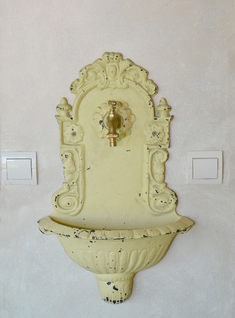 peeledoff: Decorative washstand. Stylization under old with the peeled-off paint