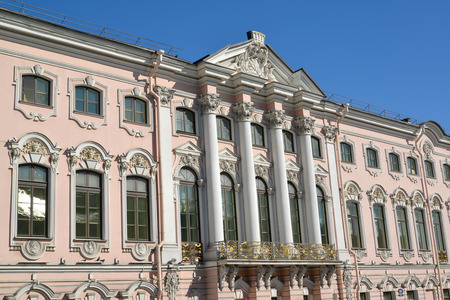 st  petersburg: Stroganov Palace, view from Moika River Embankment. St. Petersburg