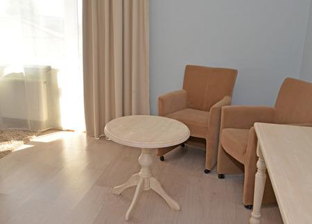 Furniture in a modern hotel room
