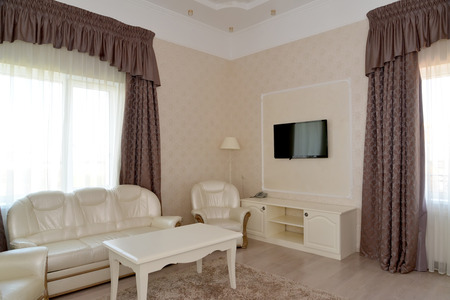 classics: Interior of a living room of a double hotel room luxury. Modern classics Stock Photo