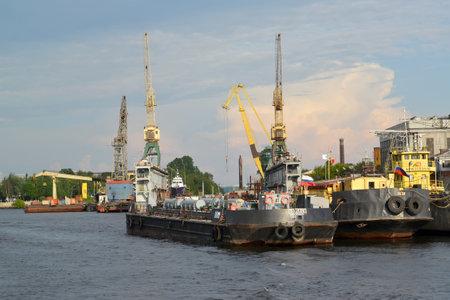 construction navale: Saint Petersburg. Cale s�che de l'usine de construction navale