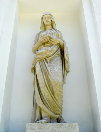 vestal: ST. PETERSBURG, RUSSIA - JULY 11, 2014: A statue of the Vestal in a niche of the Kitchen case of a palace and park complex of Yelagin Island